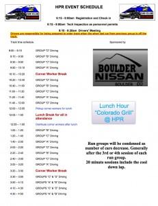 HPR Event Schedule